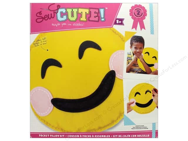 Colorbok Kit Sew Cute Pocket Pillow Emoji Smile