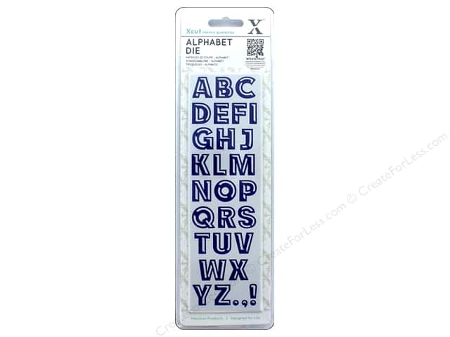 Docrafts Xcut Die Set Alphabet Beveled