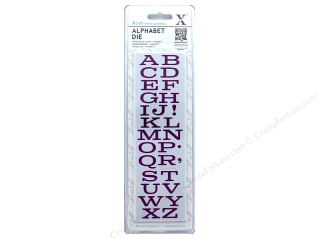 Docrafts Xcut Die Set Alphabet Mid West