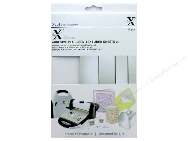 Docrafts Xcut Xtras Adhesive Sheets A5 Texture Pearl