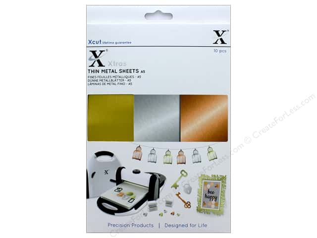 Docrafts Xcut Xtras Sheets A5 Metal