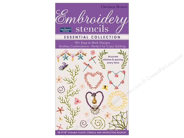 C&T Notions Fast2Mark Essential Embroidery Stencil