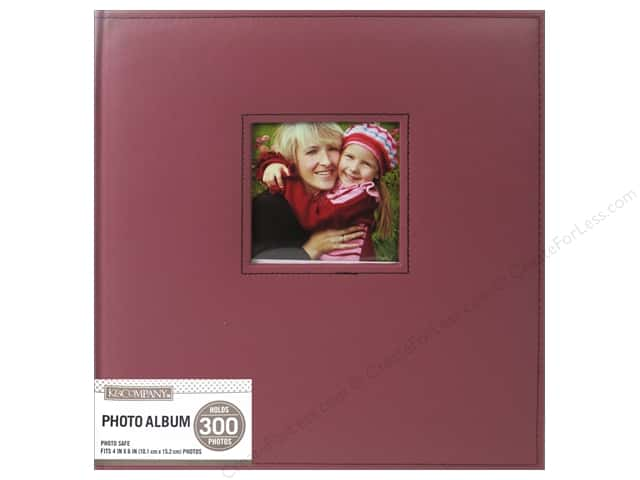 K & Company 5 Up Photo Album Faux Leather Burgundy