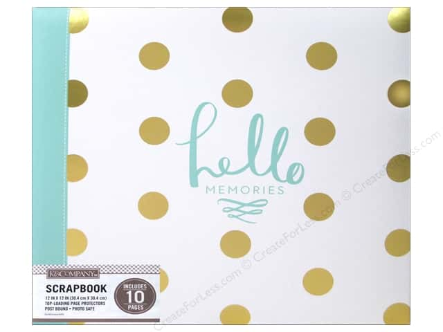 K & Company 12 x 12 in. Scrapbook Album Foil Dot Hello Memories
