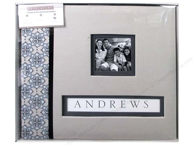 K & Company 12 x 12 in. Scrapbook Frame A Name Album Gray Floral