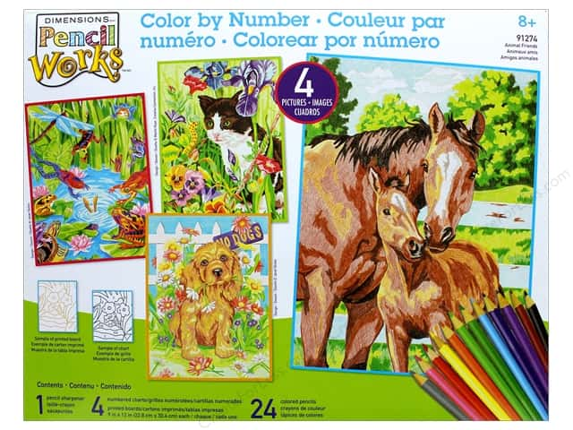 Dimensions Color By Number Value Pack Animal Friends