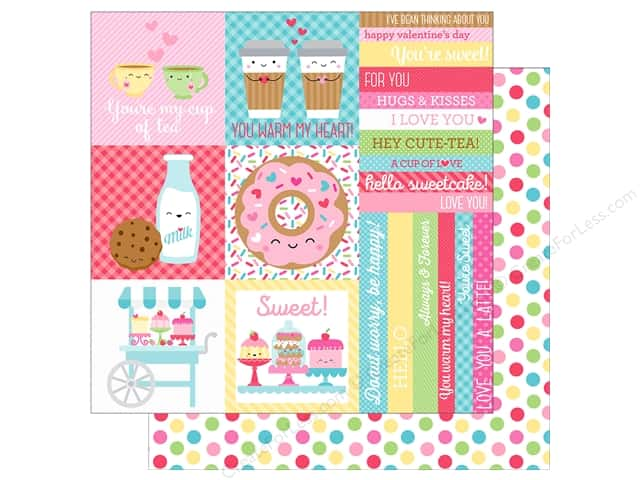 "Doodlebug Collection Cream & Sugar Paper 12""x 12"" Cake Sprinkles (25 pieces)"