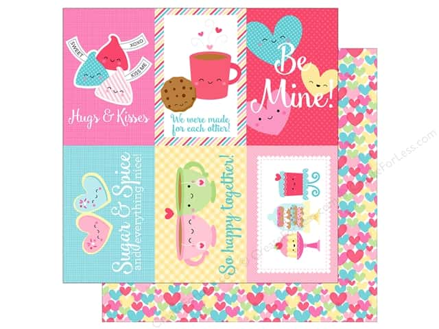 "Doodlebug Collection Cream & Sugar Paper 12""x 12"" Falling In Love (25 pieces)"