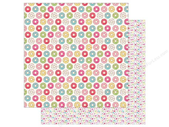 "Doodlebug Collection Cream & Sugar Paper 12""x 12"" Donut Shoppe (25 pieces)"