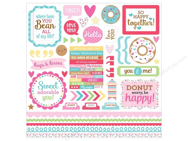 Doodlebug Collection Cream & Sugar Sticker This & That (12 pieces)