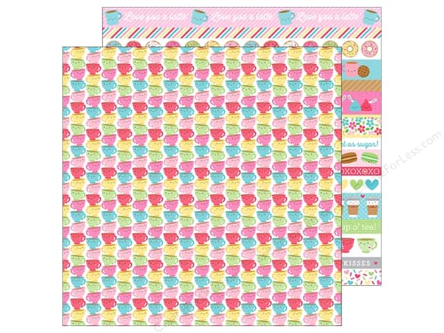"Doodlebug Collection Cream & Sugar Paper 12""x 12"" Tea Time (25 pieces)"