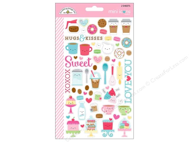 Doodlebug Collection Cream & Sugar Sticker Mini Icons (12 sets)