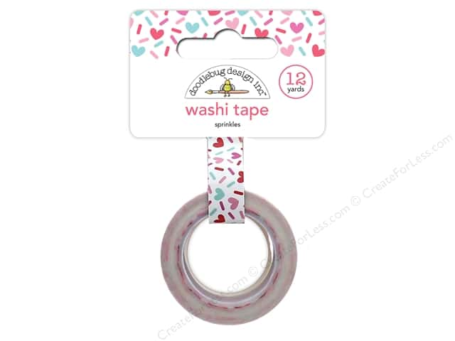 Doodlebug Collection Cream & Sugar Washi Tape Sprinkles