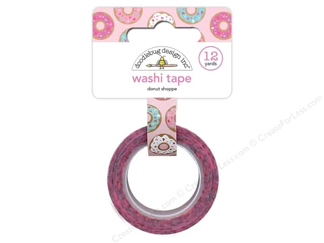 Doodlebug Collection Cream & Sugar Washi Tape Donut Shoppe