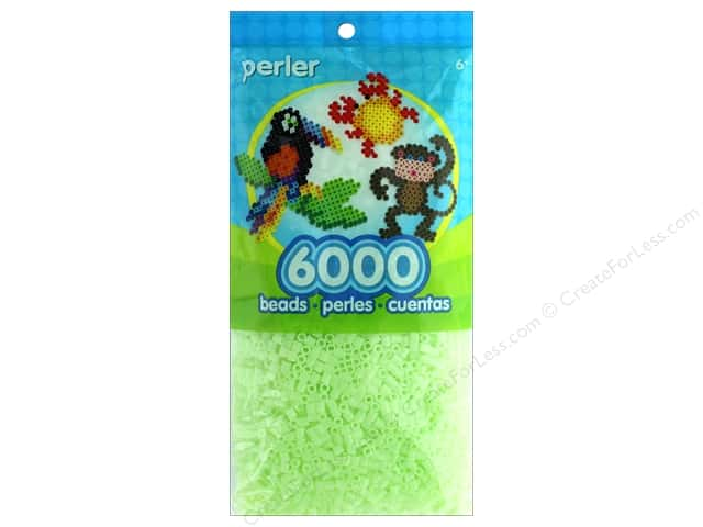 Perler Beads 6000 pc. Glow In The Dark Green