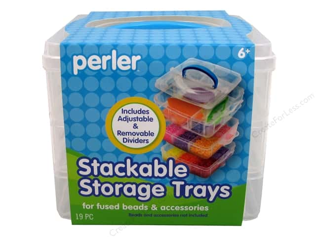 Perler Fused Bead Storage Stackable Trays Square