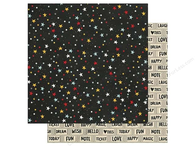 """Simple Stories Collection Say Cheese III Paper 12""""x 12"""" Wish Upon A Star (25 pieces)"""