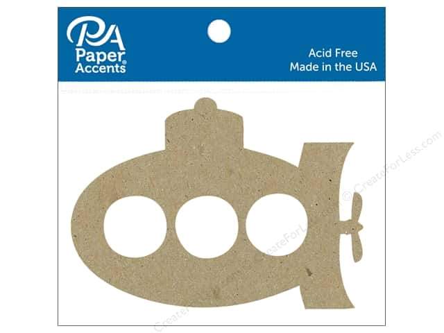 Paper Accents Chip Shape Submarine Natural 6 pc