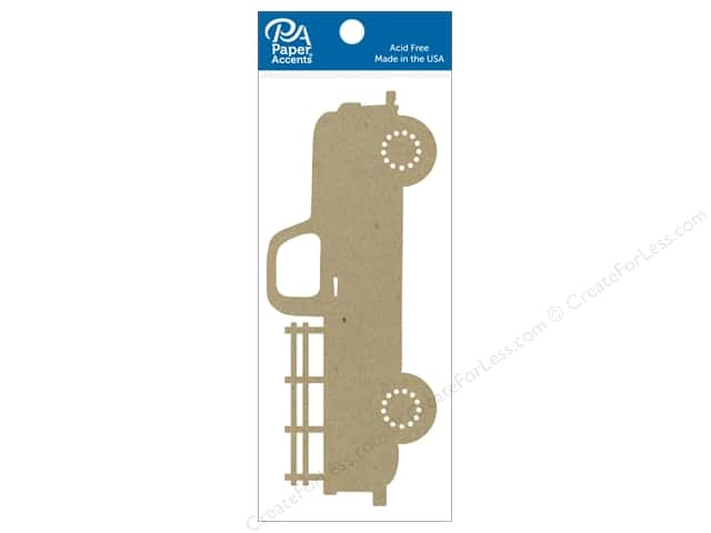 Paper Accents Chipboard Shape  6 in. Truck 2 pc. Natural