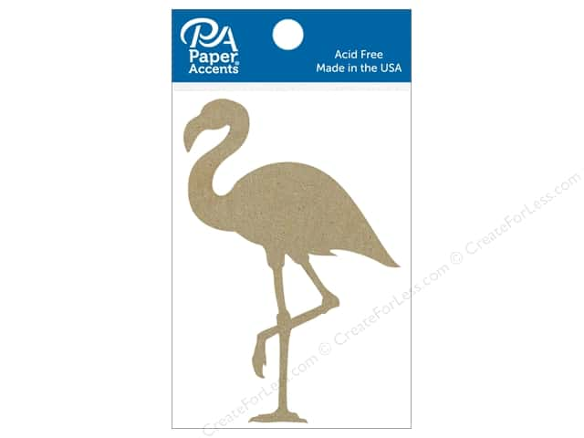 Paper Accents Chipboard Shape Flamingo 6 pc. Natural