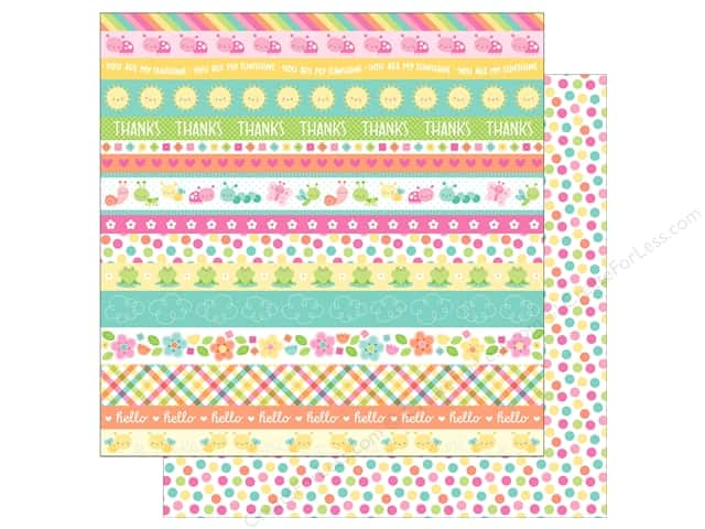 "Doodlebug Collection Spring Thing Paper 12""x 12"" Springtime Spots (25 pieces)"