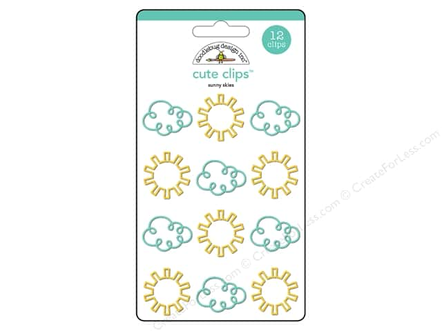 Doodlebug Collection Spring Thing Cute Clips Sunny Skies
