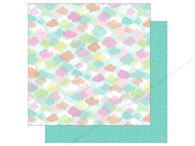 "Doodlebug Collection Spring Thing Paper 12""x 12"" April Showers (25 pieces)"