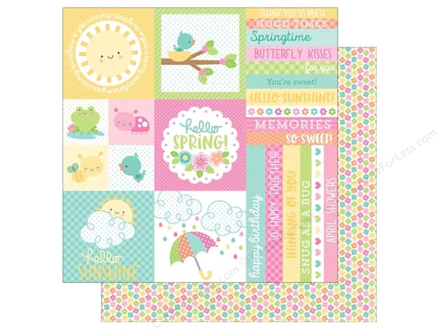 "Doodlebug Collection Spring Thing Paper 12""x 12"" Baby Blooms (25 pieces)"