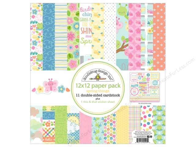 "Doodlebug Collection Spring Thing Paper Pack 12""x 12"""