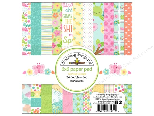 "Doodlebug Collection Spring Thing Paper Pad 6""x 6"""