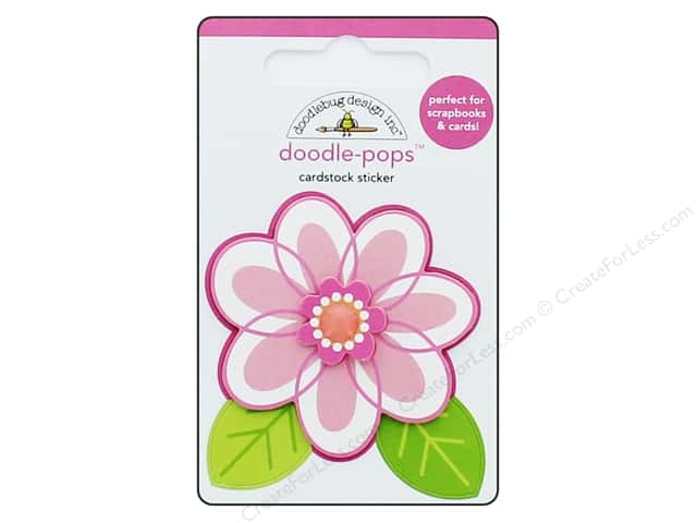 Doodlebug Collection Spring Thing Doodle Pops Dainty Daisy (12 pieces)