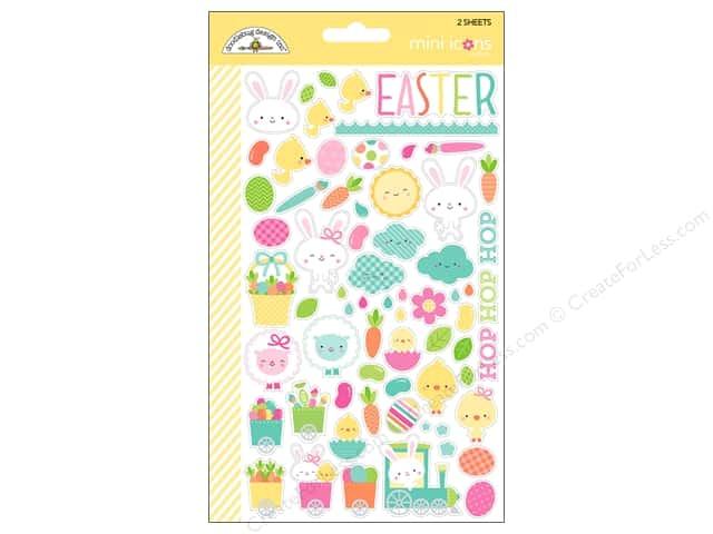 Doodlebug Collection Easter Express Sticker Mini Icon (12 sets)
