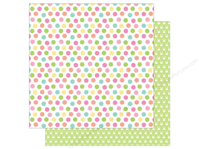 """Doodlebug Collection Easter Express Paper 12""""x 12"""" Easter Egg Dot (25 pieces)"""