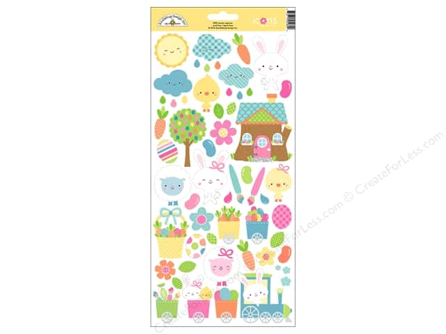 Doodlebug Collection Easter Express Sticker Icons (12 sets)