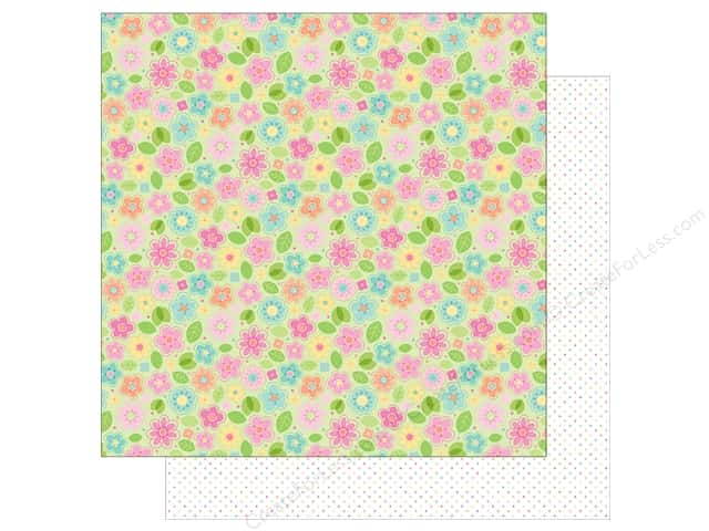 """Doodlebug Collection Spring Thing Paper 12""""x 12"""" May Flowers (25 pieces)"""