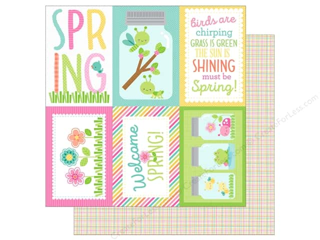"Doodlebug Collection Spring Thing Paper 12""x 12"" Butterfly Net (25 pieces)"