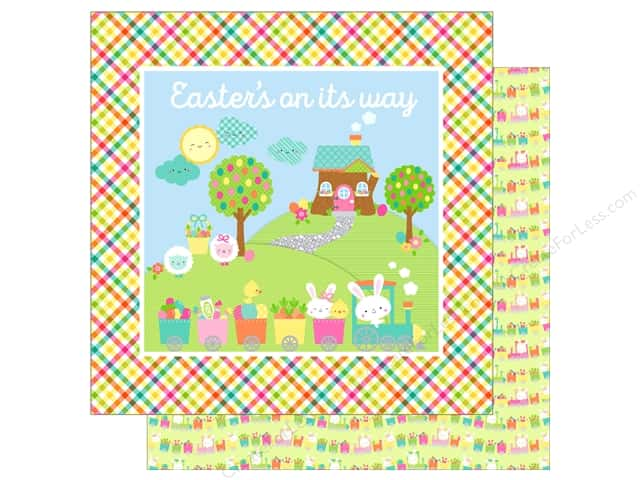 """Doodlebug Collection Easter Express Paper 12""""x 12"""" Easter Express (25 pieces)"""