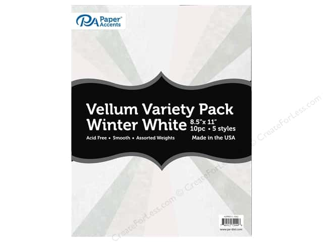 Paper Accents Vellum Variety Pack 8 1/2 x 11 in. Winter White 10 pc.
