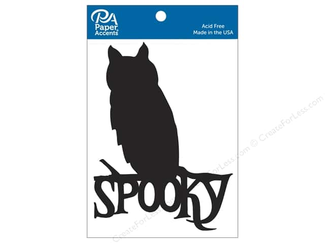 Paper Accents Chipboard Shape Spooky Owl 4 pc. Black