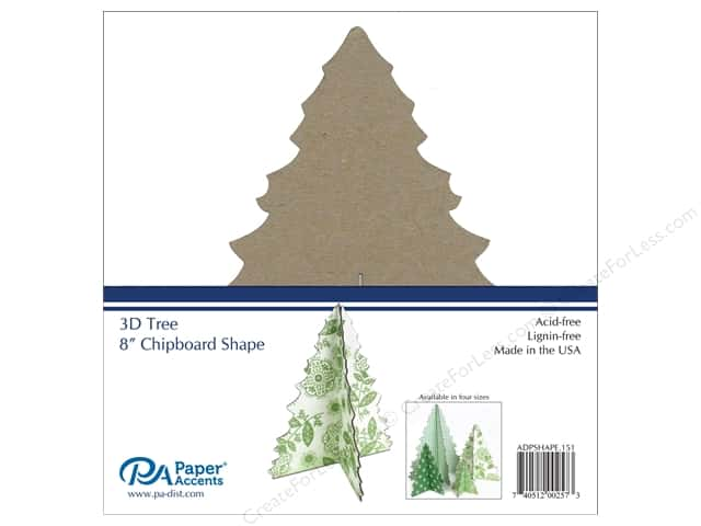 Paper Accents Chipboard Shape 1 pc. 8 in. 3D Tree Natural