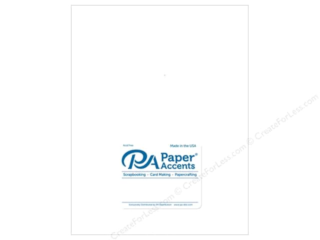 Paper Accents Cardstock 8 1/2 x 11 in. #894C Pearlized White 5 pc.