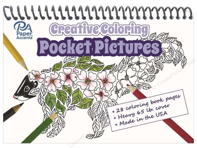 Paper Accents Creative Coloring Pocket Pictures 5 x 7 in.