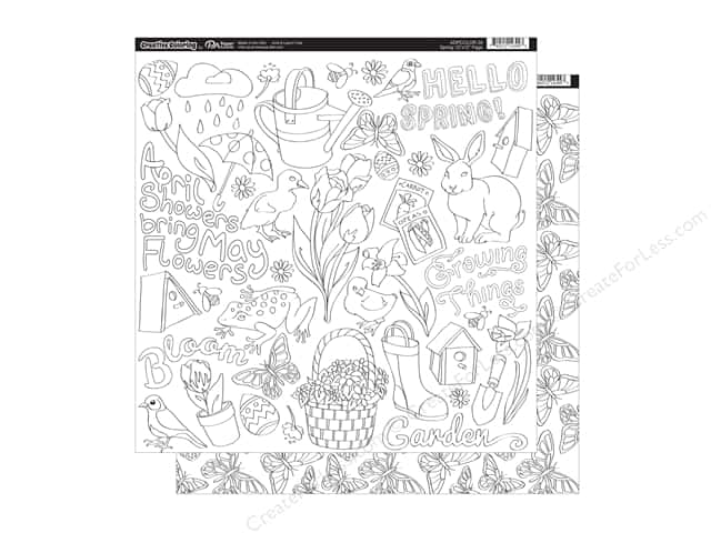Paper Accents Creative Coloring Paper 12 x 12 in. Spring (15 sheets)