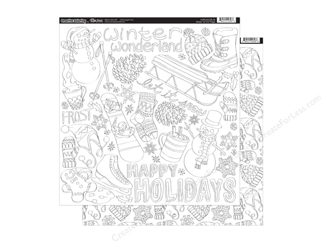 Paper Accents Creative Coloring Paper 12 x 12 in. Winter