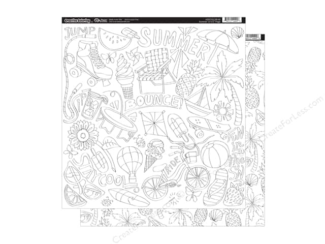 Paper Accents Creative Coloring Paper 12 x 12 in. Summer (15 sheets)