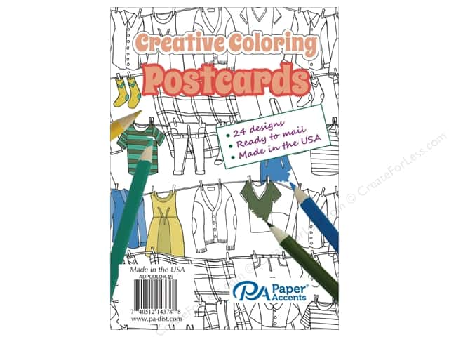 Paper Accents Creative Coloring Postcards 24 pc.