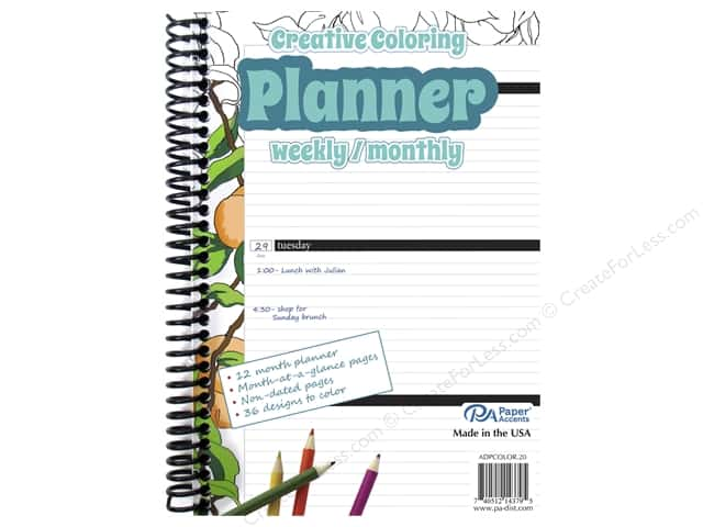 Paper Accents Creative Coloring Weekly/Monthly Planner