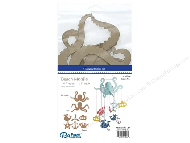 Paper Accents Chipboard Hanging Mobile Set 14 pc. Beach