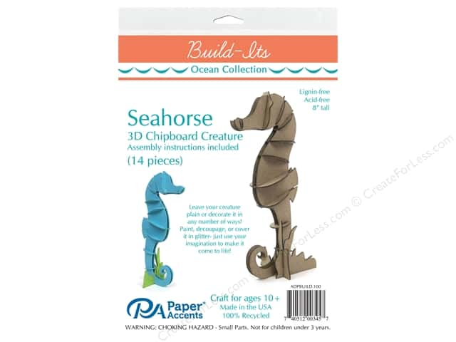 Paper Accents Chipboard Build-Its 8 in. Seahorse