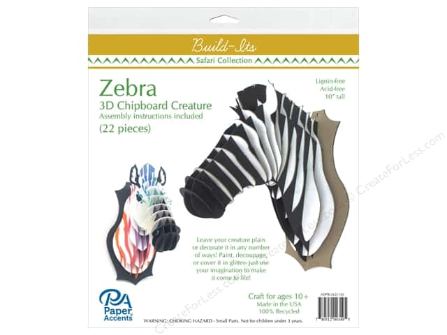 "Paper Accents Build Its Chip Zebra 11"" Tall"
